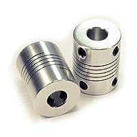 [3D CAM] 2 PCS Flexible Couplings 5mm to 8mm NEMA 17 Shaft for RepRap 3D Printer or CNC Machine from 3D CAM