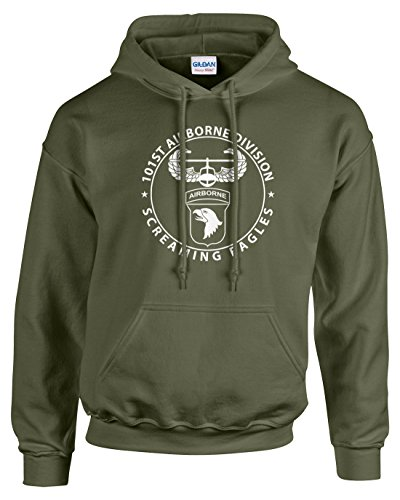 Airborne Hooded Sweatshirt (Pro Art Shirts Men's 101st Airborne Hoodie Large Army)