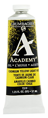 Grumbacher Academy Oil Paint, 37ml/1.25 Ounce, Cadmium Yellow Light Hue (Academy Oil Color Paint)