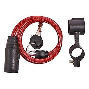 41J Am-Tech - Lucchetto a cavo per bici, cancelli, 2 chiavi in dotazione, lunghezza 1 m