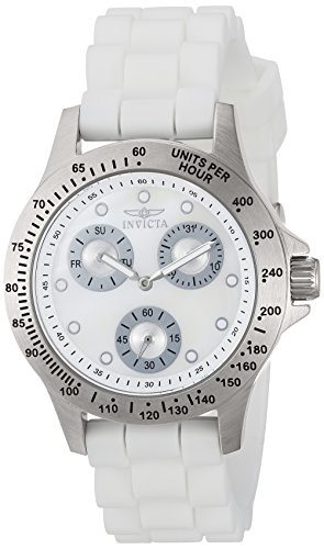Invicta 21995 Lady's MOP Dial White Strap Watch
