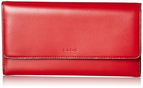 Lodis Women's Audrey RFID Luna Clutch Wallet, red One Size
