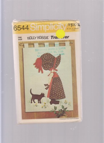 "Holly Hobbie Wall Hanging 26"" x 35"" Simpicity Sewing Pattern 6544 Applique Transfer"