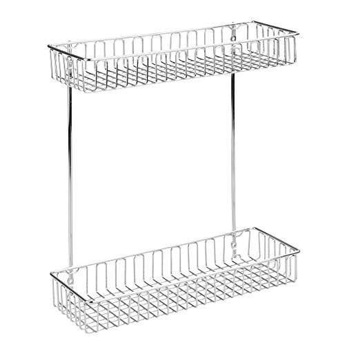 UPC 081492503804, InterDesign Classico 2-Tier Shelf Cabinet Organizer for Kitchen or Bathroom - Chrome