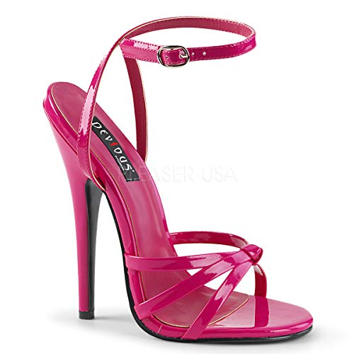 Devious Women's DOMINA-108 Sandal, hot Pink Patent, 8 M ()