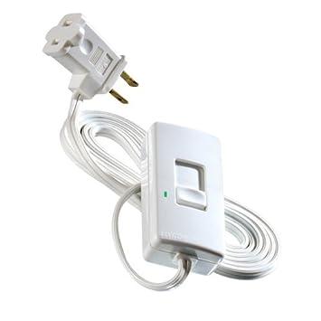 Leviton TBI03 1LW Tabletop Slide Control Lamp Dimmer 300 Watt White