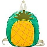 Toddler Backpack Cartoon Strawberry Pineapple Kids Backpack School Bag For Girls Boys (Yellow)