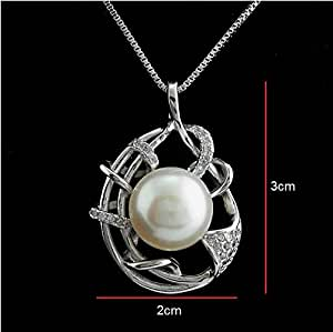 11-12 mm Freshwater Pearl Silver Necklace