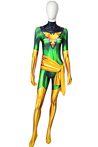 Phoenix Cosplay Costume X-Men Jean Grey Female Halloween Cosplay Bodysuit (X-Small)]()