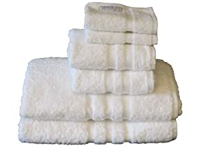 Luxury Towel Set, 2 of Each Size: Over Size Bath, Hand & Wash