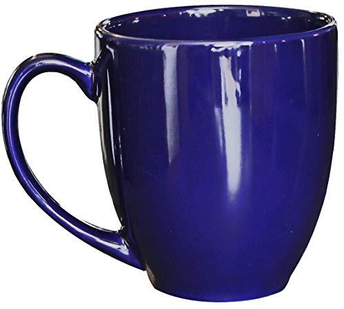 - ITI Ceramic Bistro Coffee Mugs with Pan Scraper, 14 Ounce (4-Pack, Cobalt Blue)