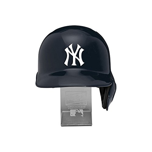 - Rawlings MLB New York Yankees Replica Batting Helmet with Engraved Stand, Official Size, Blue