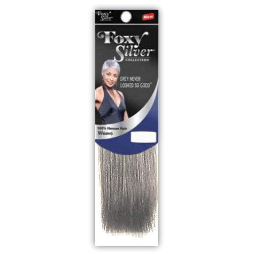 - Foxy Silver (Weave - HH Yaki Straight) 08 inch - 100% Human Hair Weave in 60