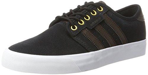 adidas Seeley, Zapatillas de Estar por Casa para Hombre Negro (Core Black/dark Brown/ftwr White)