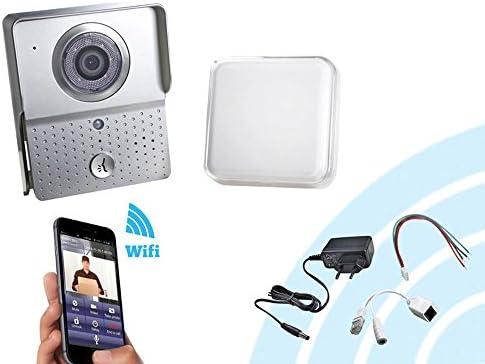 vetrineinrete® Videoportero WiFi Wireless 12 V con Sensor CMOS 6 ...