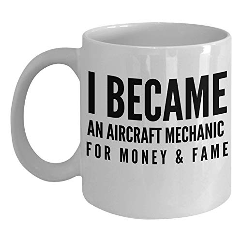 Funny Gifts For Aircraft Mechanic Helicopter Pilots Airline Captain Aviator Coffee Mug - Men Women Aerospace Flight Navigator Airplane Plane Enthusiast