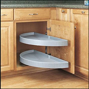 Half Moon Shelf - Rev-a-Shelf Half Moon 2 Shelf Pivot & Pull Lazy Susan
