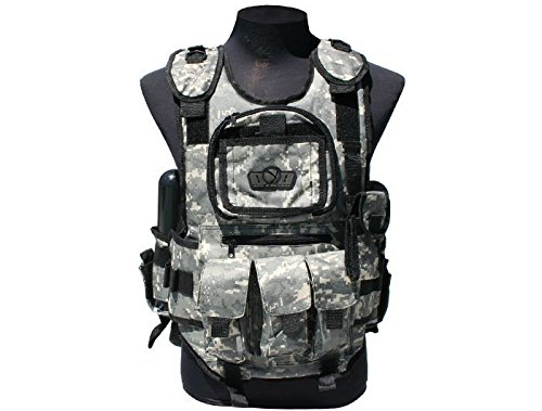GenX Global Deluxe Tactical Paintball Vest - ACU (Pouch Pod Paintball 2)