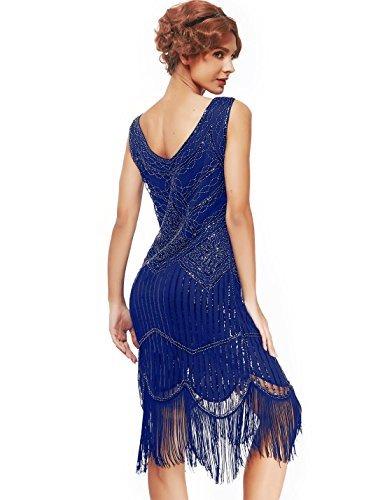 Women's Roaring 20s V-Neck Gatsby Dresses- Vintage Inpired