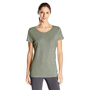 Hanes Women's Short Sleeve Pocket Tee, Camo Green Heather, Large