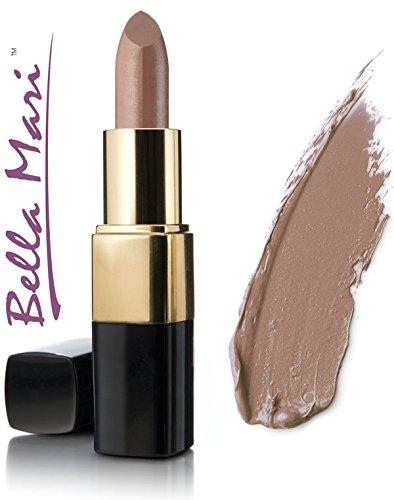 Bella Mari Natural Mineral Lipstick, Caramel Kiss Matte; 0.2oz (Little Minerals Lipstick Kisses)