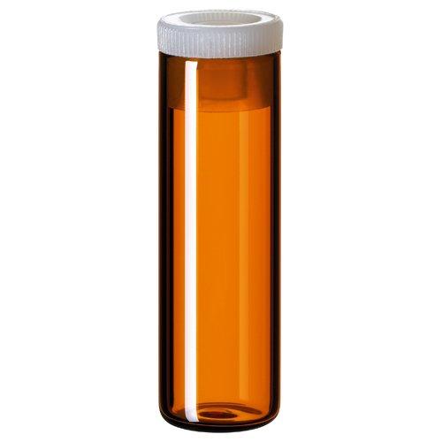 4ml Shell Vial (amber) incl. PE-Plug, 44.6 x 14.65mm, pk.100 (15 14 0562)