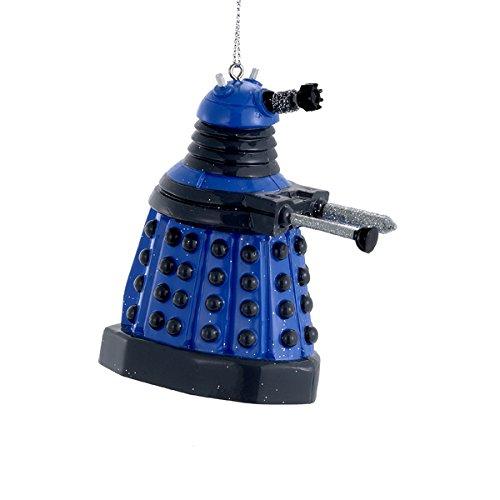Kurt S Adler Doctor Who Blue Dalek Robot Figural Ornament (Tree Doctor Who Christmas Dalek)