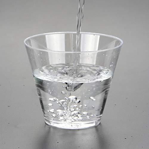 ASMGroup9 vasos transparentes de 9 onzas, 270 ml, de plástico duro transparente, para bebidas frías, vasos desechables para...