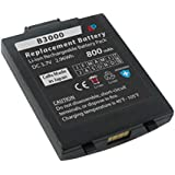 Black Replacement Battery for Vocera Communications Badge B3000. 800 mAh