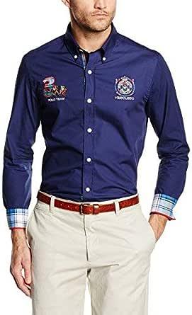 Valecuatro H Escudo Camisa, Azul Marino, S para Hombre ...