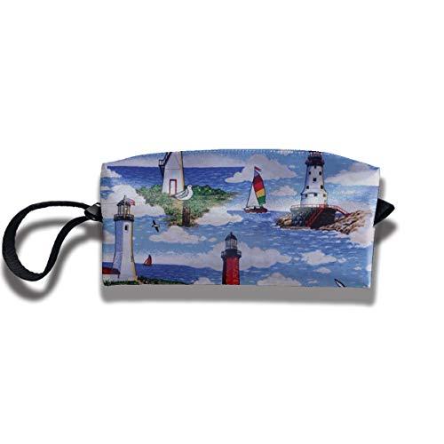(Fdsk5742 Lighthouses Scene Big Sable Pen Holder Clutch Wristlet Wallets Purse Portable Storage Case Cosmetic Bags Zipper,Travel Bag,Pencil Pen Bag)