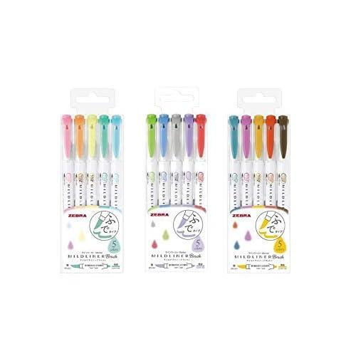 Zebra Mildliner Brush pen set, 15 Pastel Color set