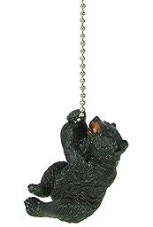 Rustic Black Bear climbing Ceiling Fan Pull chain extender - Lodge Decor