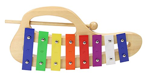 Gearlux Curved Xylophone/Metallophone with 8 Color-Coded Keys by Gearlux