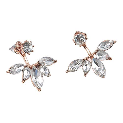 Bravetoshop Stud Earrings for Women Fashion Crystal Rhinestone Ear Flower Earrings Ladies Jewelry Set for Girls Gifts (Best Place To Get Flowers For Wedding)