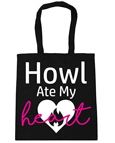HippoWarehouse Ate 10 x38cm Bag Gym Heart Shopping Howl Black Beach Tote litres 42cm My 5rqPHrxv