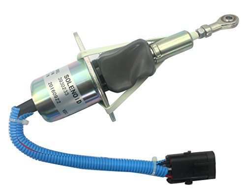 3930233 SA-4335-12 12V Fuel Shutdown Solenoid Valve - SINOCMP Stop Solenoid for Cummins 6BT & 6CT Engine, 3 Month Warranty