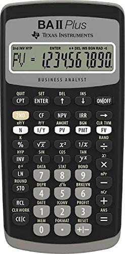 Texas Instruments BA II Plus Professional Financial Calculator IIBAPRO/CLM/1L1/D (Instruments Texas Ball Plus)