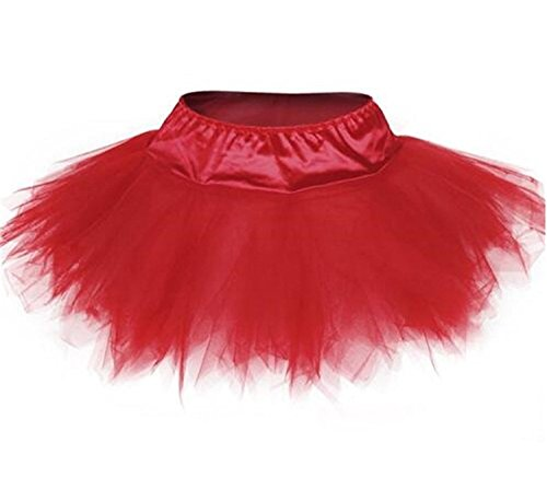 Dancing Dolls Halloween Costumes (Blidece Women's Plus Size Classic Adult Tutu Skirt Great princess tutu dance skirt. Tulle Red 5X-large)