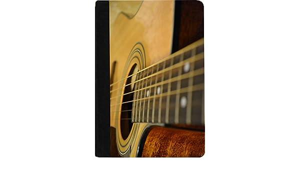 Rikki Caballero guitarra acústica diseño cartera de ante sintético portátil cartón (de rayas incluido): Amazon.es: Oficina y papelería