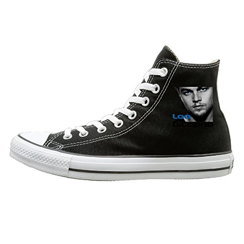 Wolf Of Wall Street Costume Designer (JHGG Leonardo Dicaprio Poster High Top Sneakers Canvas Shoes Cool Sport Shoes Street Dance Unisex Style Size 36)