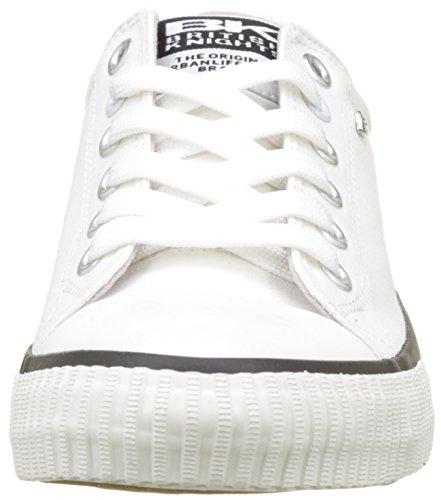 KnightsMaster White Blanc Hombre de caño bajo Lo British botas d7wAdS