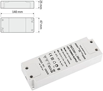 12V DC 33W Transformateur Conducteur Alimentation Adaptateur pour SMD LED