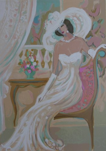 Camille from Le Cotillion Suite - Isaac Maimon Hand Signed Serigraph, Unframed