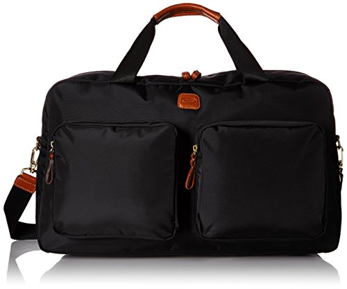 Bric's Luggage Bxl32192 X Bag Boarding Duffel, Black/Cognac Trim, One Size by Bric's
