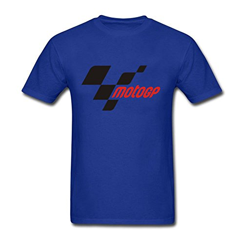 MotoGp Logo Short Sleeve Mens T-Shirt Royal Blue S