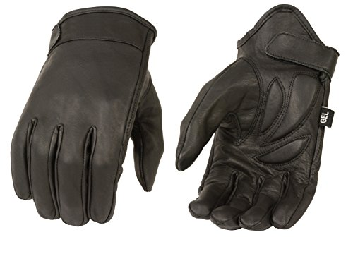Milwaukee MG7510-BLK-L Men's Summer Cruising Gloves (Black, Large) - Black Leather Riding Gloves