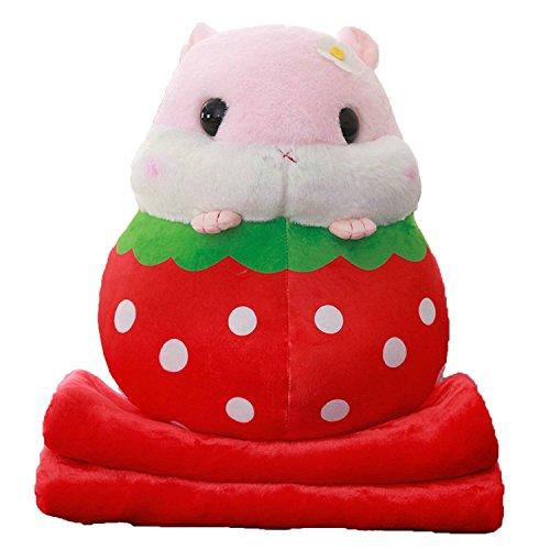 Collocation-Online Blanket in Pillow Stuffed Hamster Children Nap Time In School Plush Animals,Hamster in -