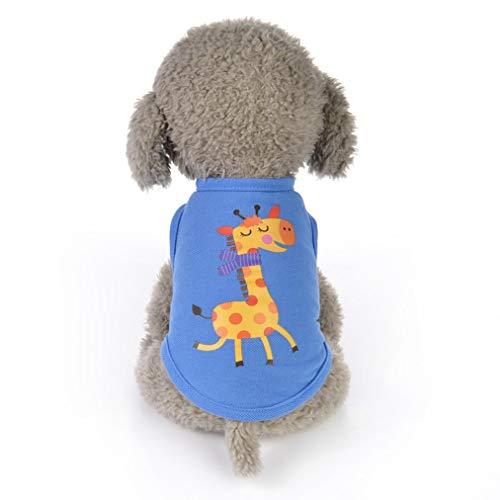 Pet Shirt Small Dog Boy Girl Animals Cartoon