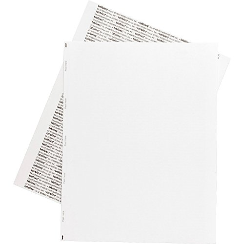 (Tabbies Permanent Transcription Label Sheets, Unruled, 59533, White, Box of 100)